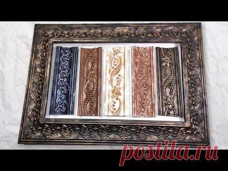 Как сделать рамку для картины из потолочного плинтуса