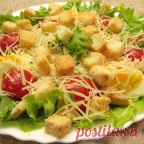 Салат с курицей и сухариками. Кефирный суп для похудения - МирТесен