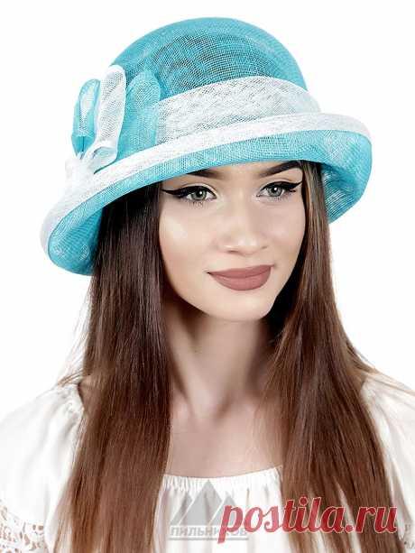 Шляпа Сильвия - Женские шапки - Из соломки купить по цене 2841 р. с доставкой в Интернет магазине Пильников