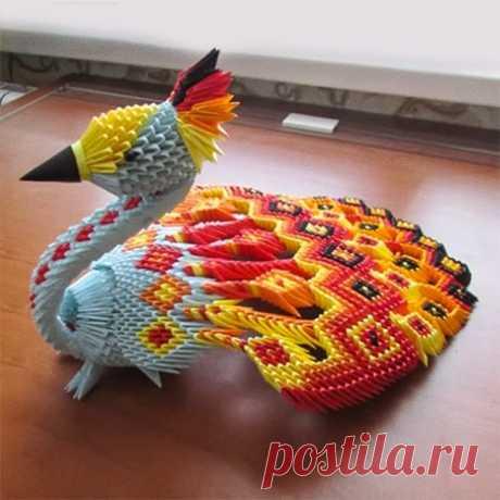 Просто шедевр!!!3D-оригами, которые можно повторить дома