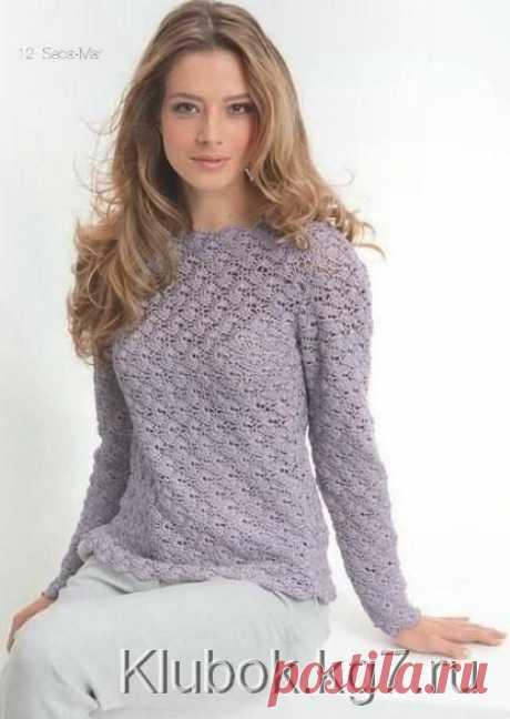 Кружевной пуловер крючком. Схемы. / Клубок