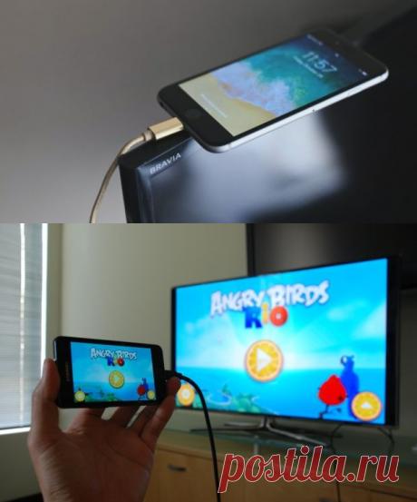 Как подключить смартфон к телевизору при помощи USB кабеля