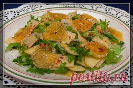 Салат с репой и мандаринами | Домашние рецепты