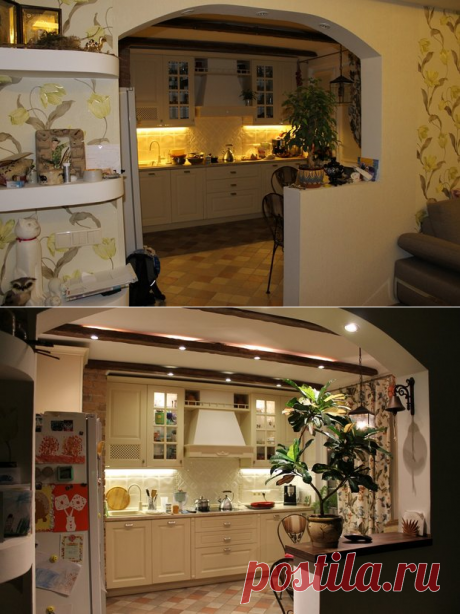 Kitchen: in the apartment, but as in the private house