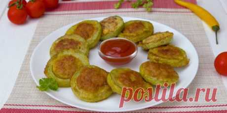 Vegetable marrows with meat in batter