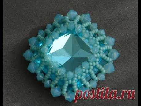 Sidonia's handmade jewelry - How to bezel a 23mm Swarovski square cabochon