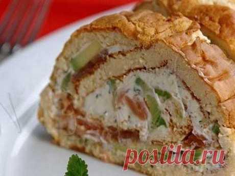 Рулет из хлеба с сыром и форелью — Sloosh – кулинарные рецепты