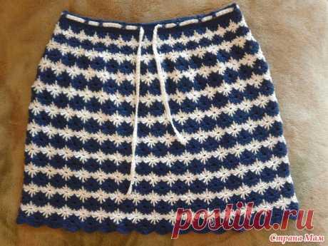 Двухцветная юбка на лето крючком - Вязание - Страна Мам