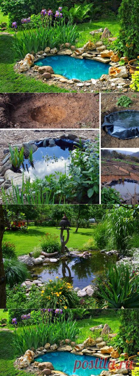Декоративный пруд своими руками Миниатюрный пруд на даче и в саду Фото Видео — Мой Прекрасный Дом