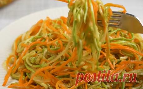 Простая закуска из кабачков и моркови