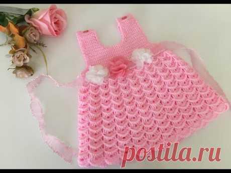 Tığ İşi Şeker Bebek Elbisesi 3 Boyutlu