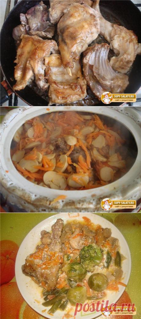 Кролик с грибами, Рецепт с фото