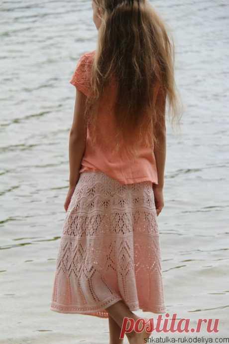 Ажурная юбка спицами Летняя элегантная юбка спицами. Модели спицами для женщин с описанием