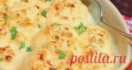 Как приготовить цветная капуста, запеченная с сыром - рецепт, ингредиенты и фотографии