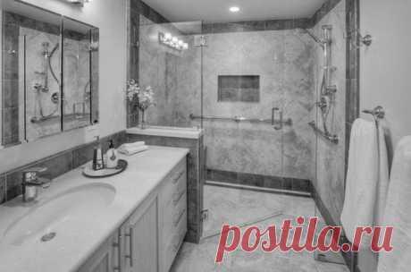 Потрясающие решения для ярких душевых и ванных / Домоседы