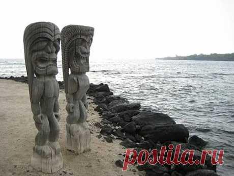 Статуи острова Нуку-Хива. Рептилоиды или кто? | Тысяча и одна идея