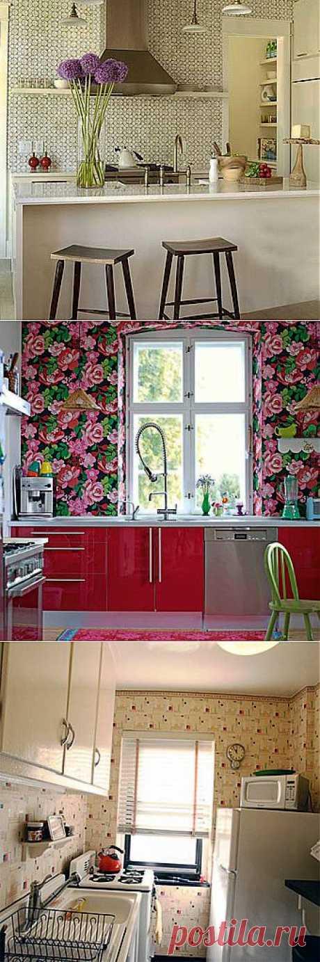 Подбираем кухонные обои: 12 интересных идей