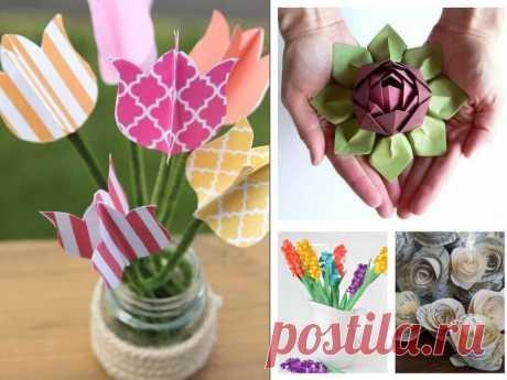 Цветы из бумаги своими руками. Мастер классы, как сделать объемные бумажные цветы