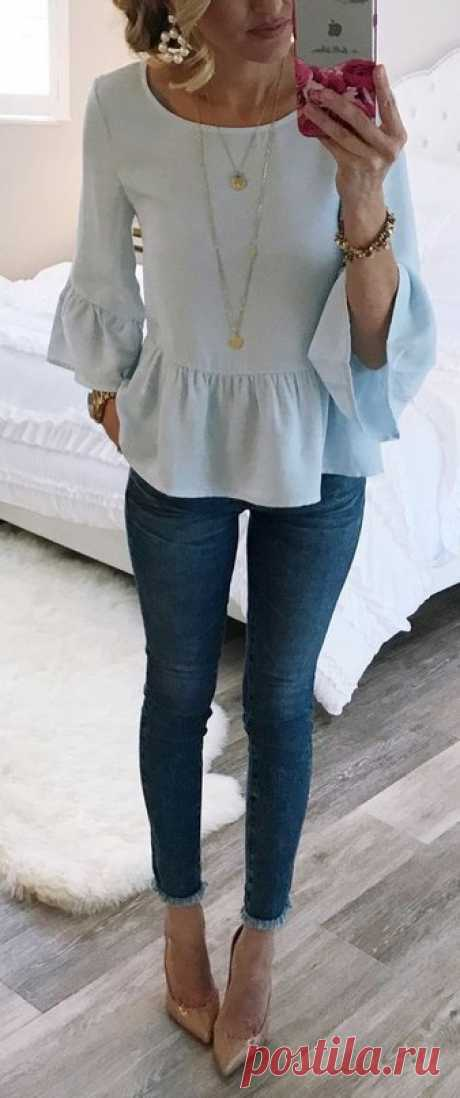 Повседневные образы с джинсами. — Модно / Nemodno