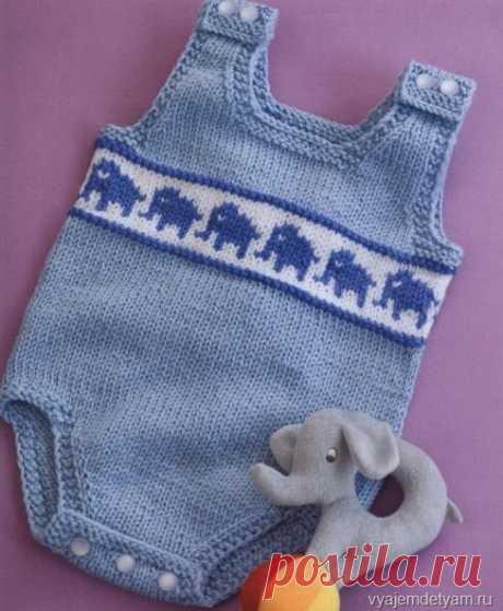 Вяжем комбинезон со слониками