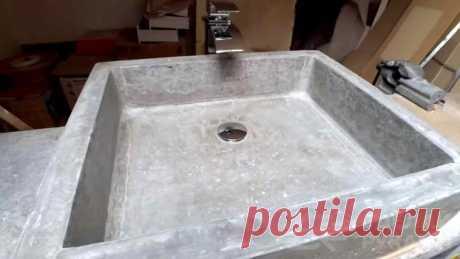 Как сделать простую бетонную раковину своими руками Хотите, чтобы интерьер ванной комнаты был необычным и оригинальным? Добавьте в него «изюминку» в виде бетонной раковины, которую можно сделать своими