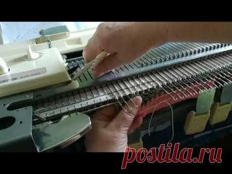 Вязание капюшона на вязальной машине для толстовки. Изменения в расчете