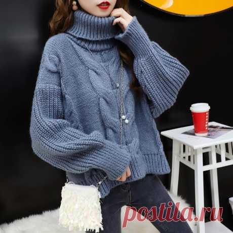 5 теплых свитеров, связанных спицами (схемы и описание)   Рукоделие