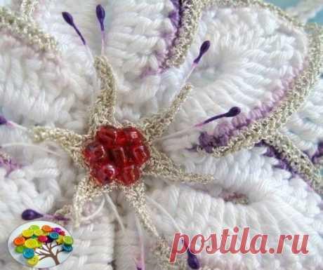 Нежный и красивый цветок крючком — DIYIdeas