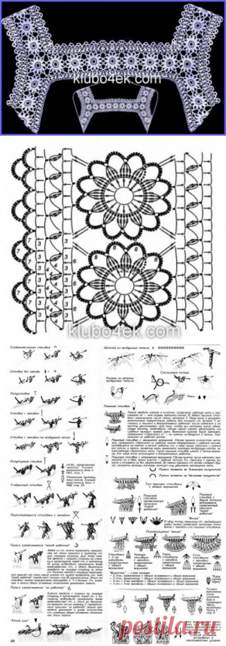Вязание кружевного воротника (кокетки)