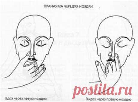 Нади Шодхана пранаяма. Попеременное дыхание через ноздри