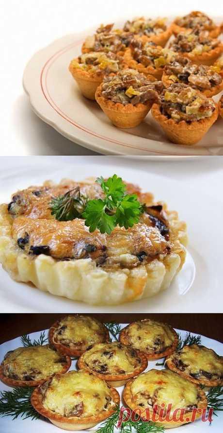 6 идей для грибных тарталеток / Простые рецепты