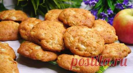 Ем и не могу остановиться – остаётся только прятать: яблочное печенье за 20 минут Тесто для печенья готовится наст&#...
