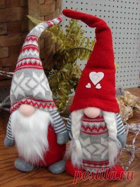 Рождественский гномик своими руками: выкройки и описание