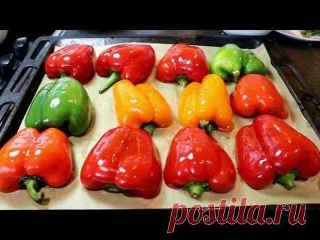 ПЕРЕЦ фаршированный мясом по итальянски. Baked stuffed peppers.