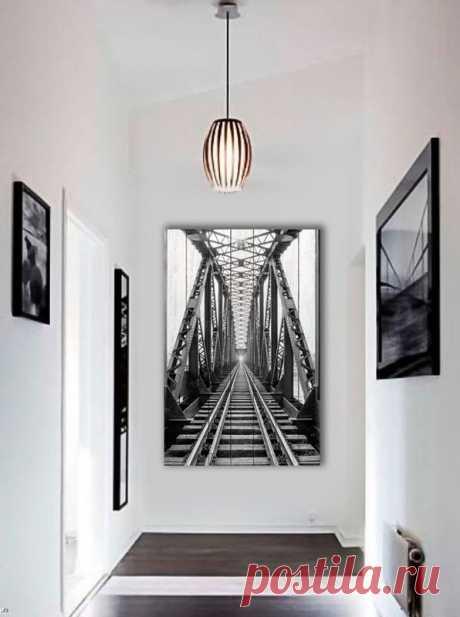 """Картина """"Железная дорога"""" по цене от 5900 руб. Размеры: 60x90 см, 80x120 см, 100x150 см, 120x180 см. Срок изготовления: 2-3 дня."""
