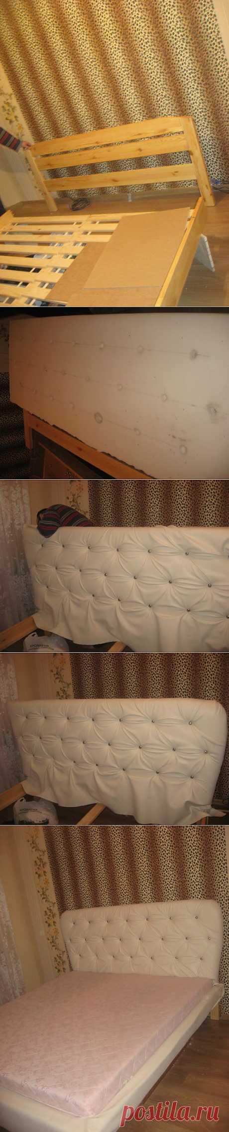 пошаговое изготовление изголовья к кровати своими руками   Школа Ремонта