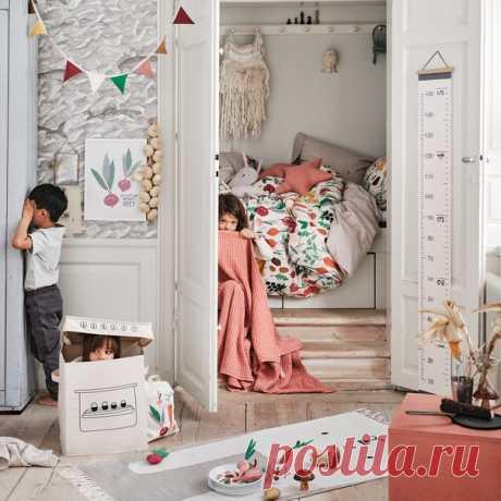 Хотите создать для юных фантазеров уголок для веселых игр и домашнего отдыха? Украсьте детскую комнату с помощью наших невероятно стильных новинок для дома и интерьера. #HMHome