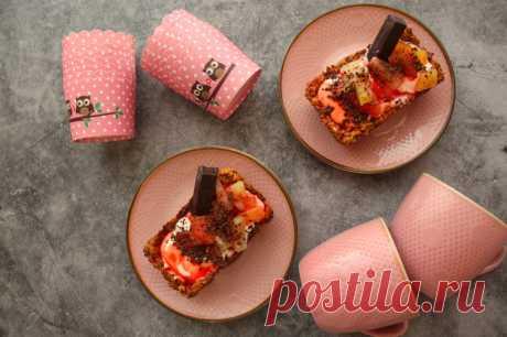 Овсяные корзиночки с консервированными фруктами - пошаговый рецепт с фото - как приготовить, ингредиенты, состав, время приготовления - Леди Mail.ru