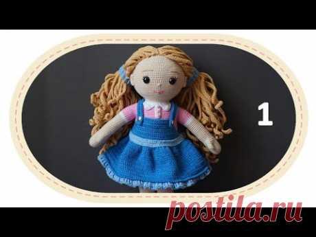 Вязаная кукла крючком Розали, ч.10 (Сарафан, ч.1). Crochet doll Rosalie, p.10 (Sundress, p.2).