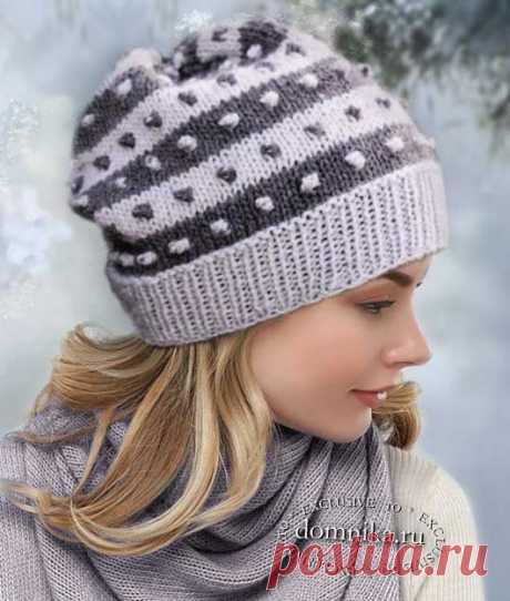 Модные женские шапки спицами 2020 год - 11 шапок и беретов спицами