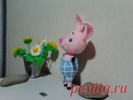 "Пятачок из ""Винни пух"", ч.1.  Piglet from ""Winnie Pooh"", р.1.  Amigurumi. Crochet."