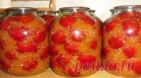 ОЧЕНЬ ВКУСНЫЕ ПОМИДОРЫ НА ЗИМУ.   Эти очень вкусные помидоры на зиму заготавливаю уже года 4 наверное, и хочу поблагодарить Надежду Марар за этот рецепт. Как-то вычитала я его в журнале, теперь люблю больше всего! Помидоры вкуснее получаются, чем в собственном соку. Ведь овощной маринад получается даже лучше самих помидор!