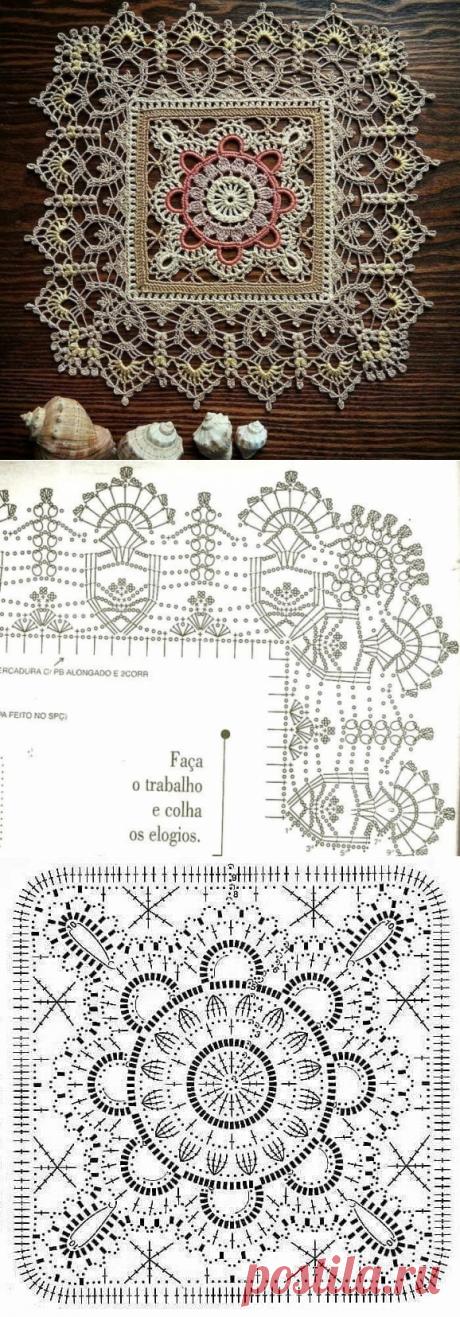 Кружевная салфетка невероятной красота из категории Интересные идеи – Вязаные идеи, идеи для вязания