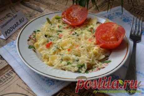 Макароны с яйцами и сыром