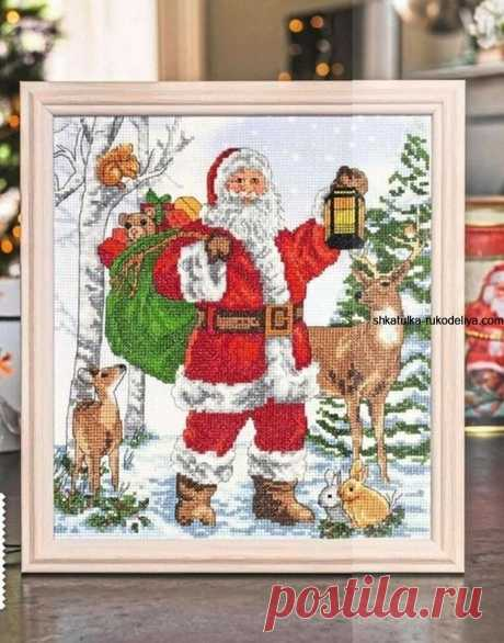 Вышивка крестиком Привет из Скандинавии. Дед Мороз вышивка крестом схемы