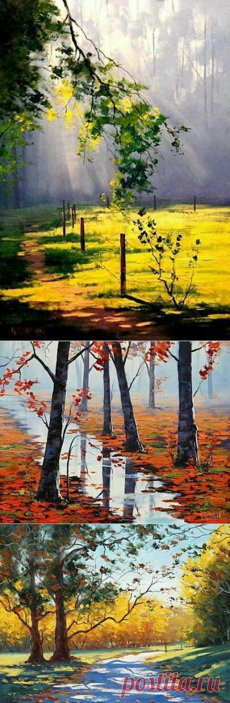 Живопись Осенний пейзаж | Музыка души