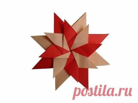 How to make a paper star origami Star  Mandala Carla   оригами звезда