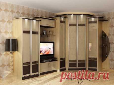 Угловой шкаф с нишей под телевизор под заказ в Москве: фото, вид, дизайн, угловой комплекс