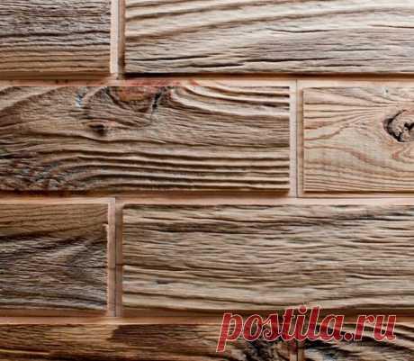 Отделочная плитка из брашированных ламелей