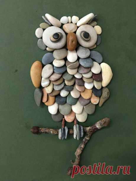 Оригинальные картины из камней: идеи с животными — DIYIdeas